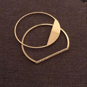 Stackable Gold Bracelet Pair